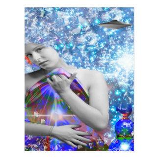 Kosmischer Tramper Postkarte