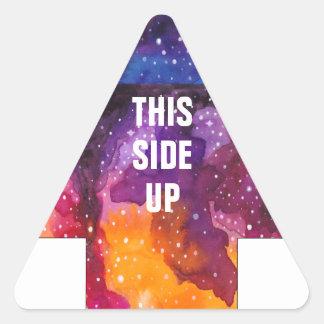 Kosmischer Weltraum-beweglicher Kasten klein diese Dreieckiger Aufkleber