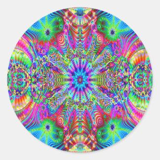 Kosmisches Creatrip - psychedelischer Aufkleber