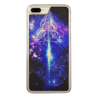 Kosmisches schillerndes Koi Carved iPhone 8 Plus/7 Plus Hülle