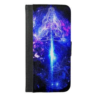 Kosmisches schillerndes Koi iPhone 6/6s Plus Geldbeutel Hülle