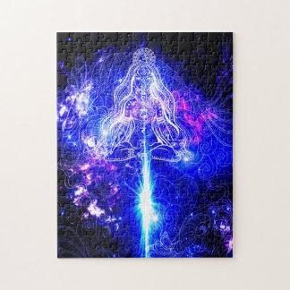 Kosmisches schillerndes Koi Puzzle