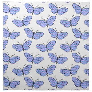Kosmisches Schmetterlings-Muster Stoffserviette
