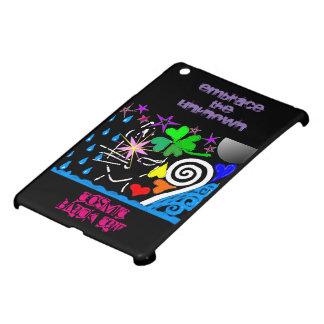 """ Kosmisches schwarze Katze"" glattes iPad Minifall iPad Mini Hülle"