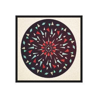 Kosmisches schwarzes rotes geometrisches leinwanddruck