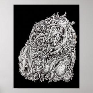 Kosmographischer Kopf, durch Brian Benson, Poster