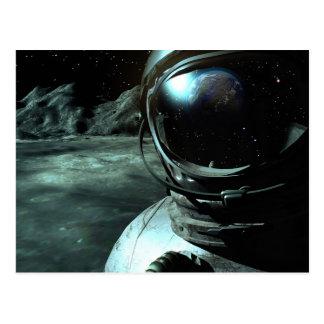 Kosmonaut-Aussicht-Postkarte Postkarte