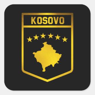 Kosovo-Emblem Quadratischer Aufkleber