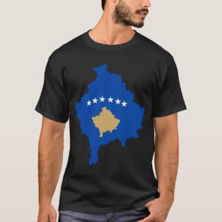 Kosovo Flag Map T-Shirt