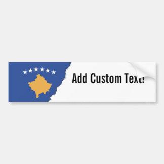 Kosovo-Flagge Autoaufkleber