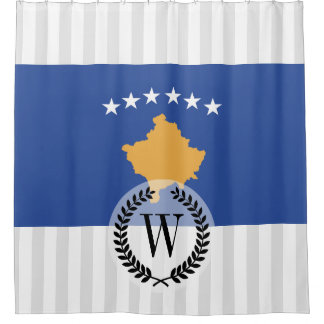 Kosovo-Flagge Duschvorhang