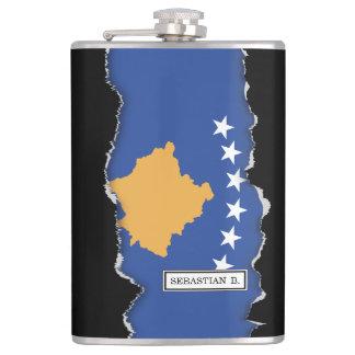 Kosovo-Flagge Flachmann