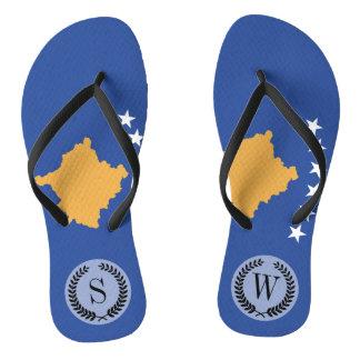 Kosovo-Flagge Flip Flops