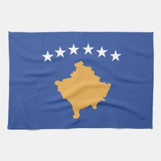 Kosovo-Flagge Geschirrtuch