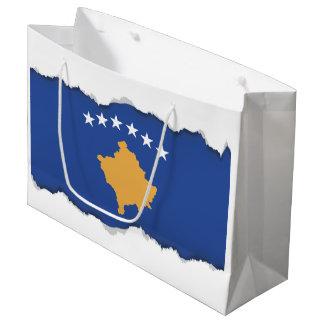 Kosovo-Flagge Große Geschenktüte