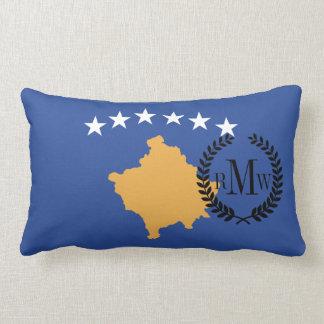 Kosovo-Flagge Lendenkissen