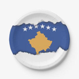 Kosovo-Flagge Pappteller