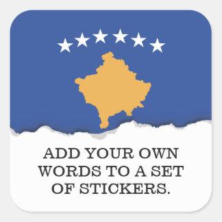 Kosovo-Flagge Quadratischer Aufkleber