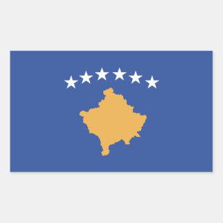 Kosovo-Flagge Rechteckiger Aufkleber