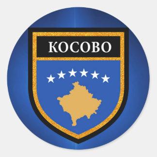 Kosovo-Flagge Runder Aufkleber