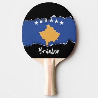 Kosovo-Flagge Tischtennis Schläger
