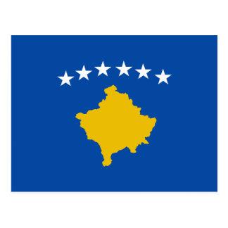 Kosovo-Flaggen-Postkarte Postkarte
