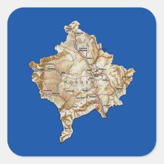 Kosovo-Karten-Aufkleber Quadratischer Aufkleber