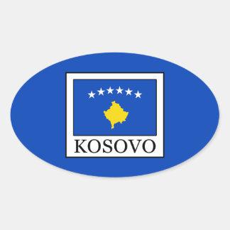 Kosovo Ovaler Aufkleber