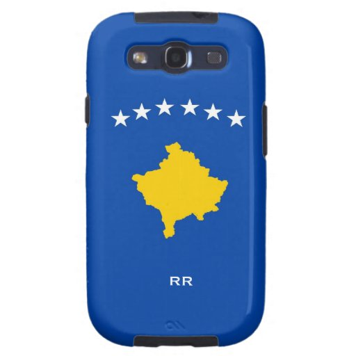 Kosovo sechs Stern-Flagge auf blauer Galaxie S3 Samsung Galaxy S3 Etui