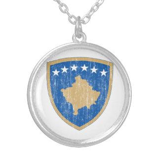 Kosovo-Wappen Versilberte Kette