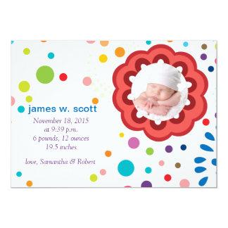 Köstliche Blume - Foto-Geburts-Mitteilung 12,7 X 17,8 Cm Einladungskarte