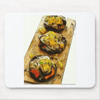 Köstliche Kartoffel angefüllt mit gegrillten Mousepad