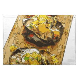 Köstliche Kartoffel angefüllt mit gegrillten Tischsets