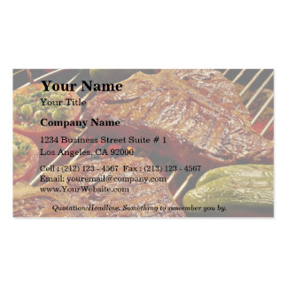 Köstliche Knochensteaks Visitenkarte