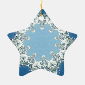 köstliche Kreisschatten des Blaus Keramik Ornament