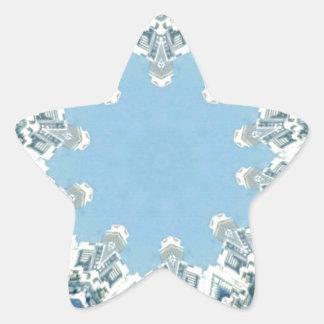 köstliche Kreisschatten des Blaus Stern-Aufkleber