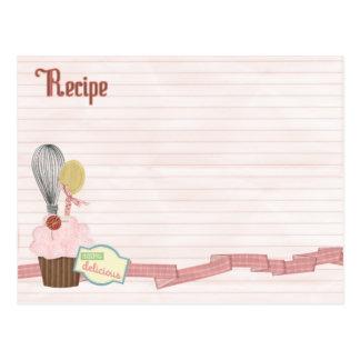 köstliche Rezeptkarte Postkarten