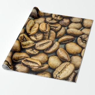 Köstliche rustikale Goldkaffeebohnen Geschenkpapier