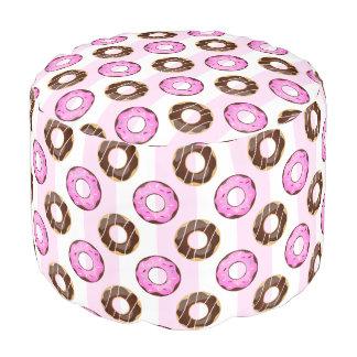Köstliche Schaumgummiring-rosa Streifen-Muster Hocker