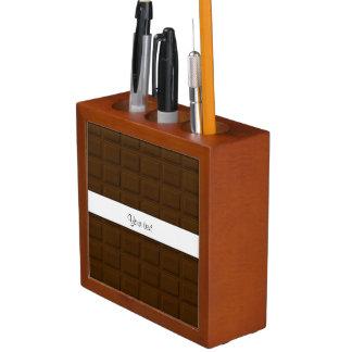 Köstliche Schokoladen-Quadrate Stifthalter