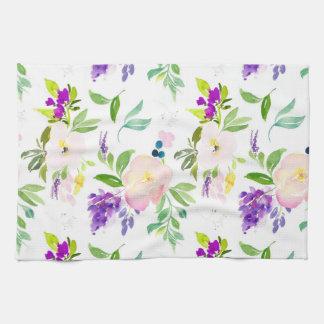 Köstliche Watercolor-Blumen  Pfingstrosen und Handtuch