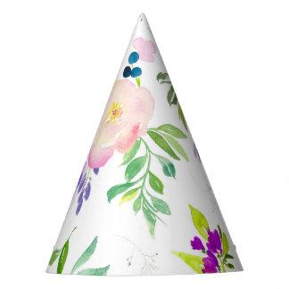 Köstliche Watercolor-Blumen  Pfingstrosen und Partyhütchen