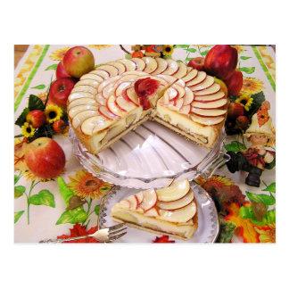 Köstlicher Apfelkuchen Postkarte