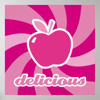 köstlicher rosa Apfel Plakat