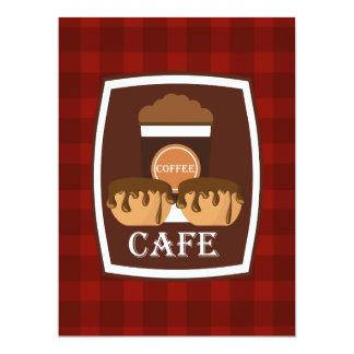 Köstlicher Tasse Kaffee der Illustration 16,5 X 22,2 Cm Einladungskarte