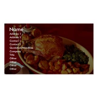 Köstliches Abendessen für Nahrungsmittelliebhaber Visitenkarten Vorlagen