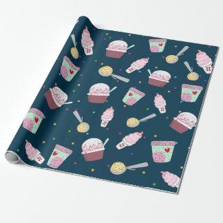 Köstliches Eiscreme-Muster-Packpapier Geschenkpapier