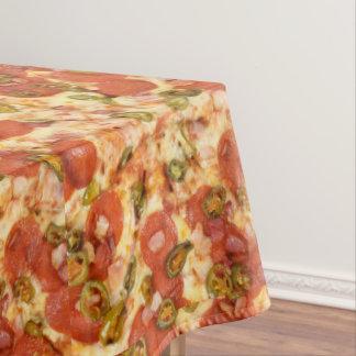 köstliches ganzes Pizzapepperonis Jalapeno-Foto Tischdecke