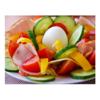 Köstliches Gemüse-Salat-Nahrungsmittelbild Postkarte