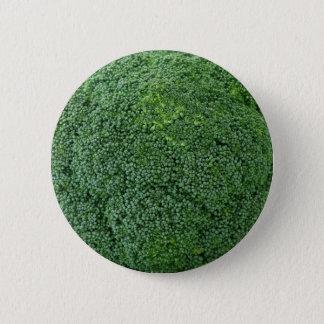 köstliches gesundes veganes Gemüsebrokkolibild Runder Button 5,7 Cm